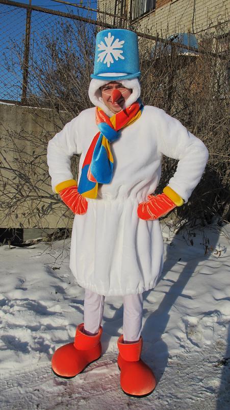 Костюм снеговика своими руками для взрослых